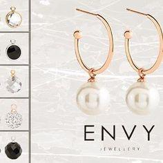 CHARMED LIFE EARRINGS - #charming mix&match #earrings - simply choose your… Fine Jewelry, Jewelry Making, Jewellery, Mix Match, Black Onyx, Timeless Design, Rose Quartz, Jasper, Envy