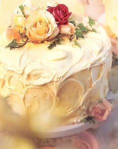 Garden Party old country roses cake