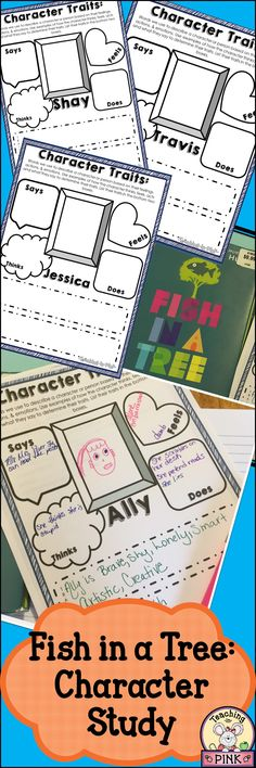 Fish in a Tree Character Study Character Traits Graphic Organizer, Teaching Character Traits, Graphic Organizers, Pre Reading Activities, Classroom Activities, Fish In A Tree, Reading Fair, 4th Grade Ela, Tree Study