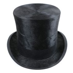 Victorian Collins   Fairbanks Black Felted Beaver Fur Top Hat and Box 1906090969b5