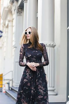 Fall Florals in New York - The A List - A Blog By Alyssa Campanella Alyssa Campanella, Business Outfits, Business Clothes, Vintage Glam, Work Fashion, Autumn Winter Fashion, Feminine, Style Inspiration, Florals