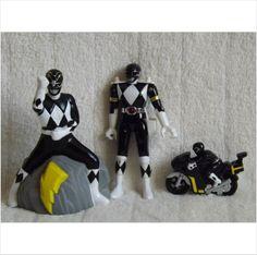 For Sale Black Power Ranger Bundle , Toy Figure, Pvc Figure & A Bike on eBid United Kingdom