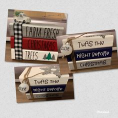 Christmas Wood Crafts, Christmas Signs Wood, Farmhouse Christmas Decor, Christmas Projects, Holiday Crafts, Christmas Makes, Plaid Christmas, Christmas Books, Christmas Themes