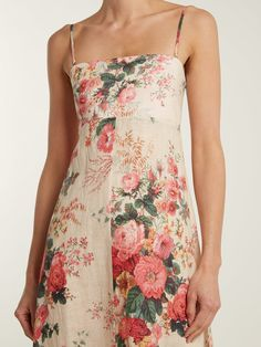 Laeila floral-printed linen dress | Zimmermann | MATCHESFASHION.COM UK
