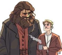 Hagrid and Neville by artofpan