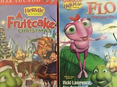 New Lot 2 VHS Hermit & Friends Fruitcake Christmas And Flo The Lyin Fly