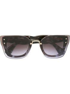 MIU MIU EYEWEAR . #miumiueyewear # Oversized Sunglasses, Protective Cases, Miu Miu, Eyewear, Grey, Shopping, Collection, Style, Fashion