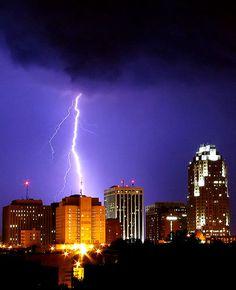 Lightning Fire From The Sky   raleigh # lightning storm raleigh lightning storm july 19 by ocell on ...