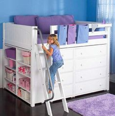 I would love to have this for Abigail's room.  It would give her so much more room.  Does anyone know anyone who could build it?