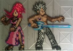 Perlers of Sherry and Lyon from Fairy Tail Yay more antagonists turned protagonists. The sprite is from a nintendo DS game Fairy Tail Gekitou! Lyon Vastia and Sherry Blendy Perlers Fairy Tail Lyon, Fairy Tail Juvia, Fairy Tail Art, Fairy Tail Anime, Fairy Tales, Pokemon One, Anime Character Names, Anime Pixel Art, Pixel Design