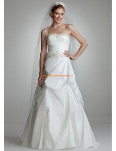 Designer Romantisch Brautkleider 2014 aus Satin mit Perlenstickerei