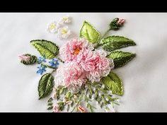 ЦВЕТОЧНАЯ ВЫШИВКА  \  FLOWER EMBROIDERY - YouTube