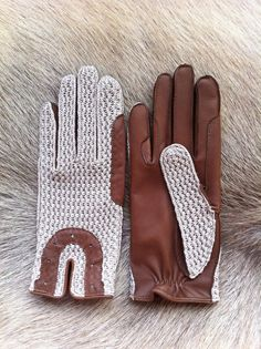 Hey, I found this really awesome Etsy listing at https://www.etsy.com/listing/161157613/riding-leather-gloves-crochet-leather