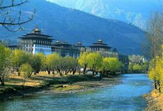 Dzong (monastery) in Bhutan