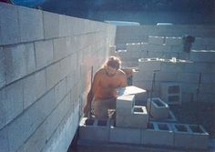 Surface Bonding Cement-Dry stack concrete block walls use surface bonding cement instead of mortar.