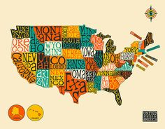 United States Drawing Collage Map Collage Drawings And Fine - Us map photo collage