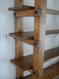 Estante rustici diy easy how to build 50 Easy DIY Bookshelf Design Ideas Furniture Projects, Wood Projects, Diy Furniture, Furniture Plans, Furniture Design, Rustic Furniture, Shaker Furniture, Furniture Buyers, Lathe Projects