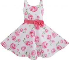 DA42 Girls Dress Pink Rose Flower Wedding Pageant Child Clothes Size 6 Sunny Fashion,http://www.amazon.com/dp/B00C80J7J0/ref=cm_sw_r_pi_dp_3sbPsb0NPAZ90KR8