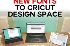 How to Upload Fonts to Cricut Design Space on Windows, Mac, iPad, and iPhone -- tutorial and free font! Craft Room Tables, Ikea Craft Room, Scrapbook Organization, Paper Organization, Paper Storage, Diy Storage, Mac Ipad, Aromatherapy Candles, Letter Size Paper