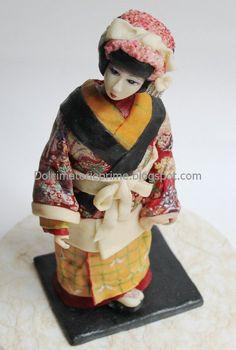 Geisha doll cake