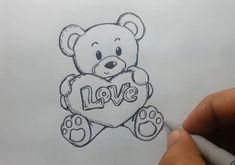 Fabulous Drawing On Creativity Ideas. Captivating Drawing On Creativity Ideas. Easy Pencil Drawings, Drawings With Meaning, Cute Drawings Of Love, Easy Doodles Drawings, Easy Disney Drawings, Cute Bear Drawings, Pencil Drawings Of Flowers, Realistic Drawings, Cartoon Drawings
