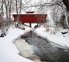 wood bridge in winter picture - Google Search