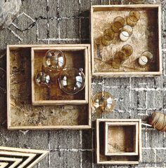 Roost Birch Shaped Trays - Square