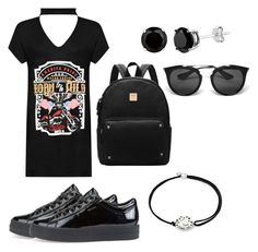 """My Own Black 👄"" by bebarevay on Polyvore featuring WearAll, Geox, Alex and Ani and Prada"