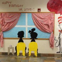 Dr. Seuss bulletin board. @Debbie May how cute!