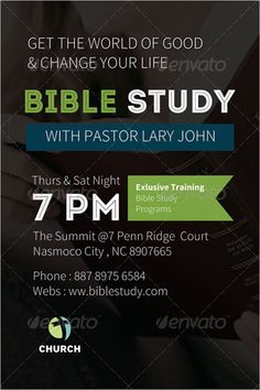 Free Church Flyer Templates Perfect Marketing Tool No Cost - Bible study flyer template free