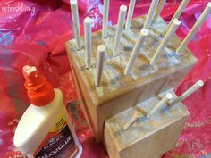 Turn an old knife block into amazing sewing storage