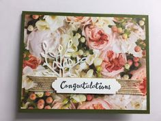 My Creative Corner!: Petal Promenade, Petal Palette, Petals & More, Wedding or Anniversary Card Happy Birthday Cards, Happy Birthdays, Birthday Greetings, Birthday Wishes, Wedding Cards Handmade, Handmade Cards, Cards For Friends, Friend Cards, Baby Congratulations Card