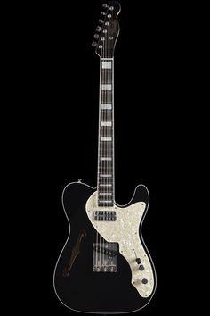 "glorifiedguitars: ""More Telecasters - as requested! Part Fender Custom Shop 1963 Telecaster Thinline "" Fender Telecaster Black, Telecaster Thinline, Fender Guitars, Fender Squire, Guitar Room, Fender Custom Shop, Beautiful Guitars, Guitar Design, Vintage Guitars"