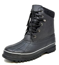 DREAM PAIRS Mens Black Insulated Waterproof Winter Snow Boots Size 9 M US >>> Find out more about the great product at the image link. (This is an affiliate link and I receive a commission for the sales) Best Winter Boots, Winter Fashion Boots, Winter Snow Boots, Mens Snow Boots, Native Shoes, Cold Weather Boots, Vegan Boots, Leather Riding Boots, Duck Boots