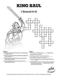Samuel Makes Saul King Kids Bible Craft