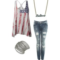 Forth Of July :), created by emilie0496 on Polyvore