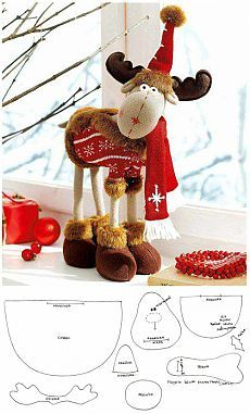 Christmas moose / Soft toys, sewing / needlework In