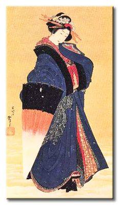 CUADROSTOCK.COM - HOK2010 Quadro Hokusai - Beauty with umbrella in the snow