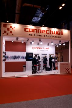 Frontal del stand de Connectwell en Matelec. COOC Alternativa de Diseño.