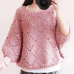 Best 11 Women's Hand Knit Boatneck Sweater – SkillOfKing. Crochet Jacket, Knit Or Crochet, Knitting Stitches, Knitting Patterns, Woolen Dresses, Sweater Design, Batwing Sleeve, Knitted Hats, Knitwear