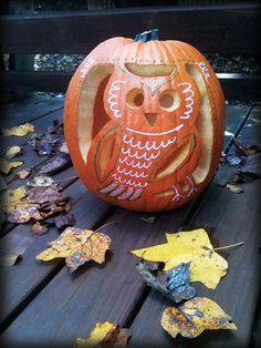 Flourish RVA: Owl pumpkin for Halloween!