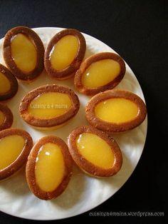 FINANCIER A L'ORANGE (125 g de beurre, 150 g de sucre, 50 g de poudre d'amande,50 g de farine, 8 g de miel, 4 blancs d'oeufs (125 g), zeste d'1 orange) (GELEE D'ORANGE : 1 verre de jus d'orange (250 g), 2 grosses c de confiture d'orange, 1 g d'agar agar (1/2 c à c)