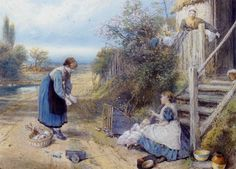 Myles Birket Foster: Playing with Baby