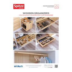 Wait is over, here are the wooden organisers by SPITZE that you have always wanted for your wardrobes.
