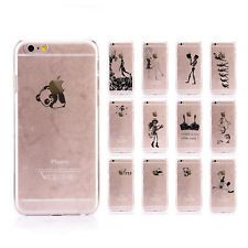 For Apple iPhone Series Ultra Thin Clear Hard Cover Creative Girl Patterned Case