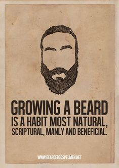 Minimalist Posters Of Hilarious Quotes About Why Beards Are Great - DesignTAXI.com