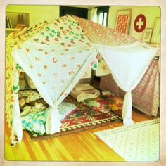 Surprise your kids with a special tent ~ they will love it .  Why not even eat super there.  Fun free family date!