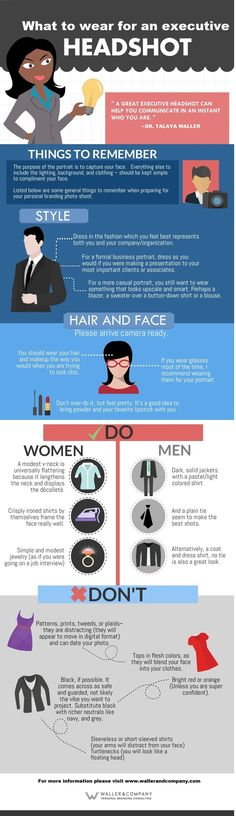 Infographic: What to Wear for a Personal Branding Executive Headshot
