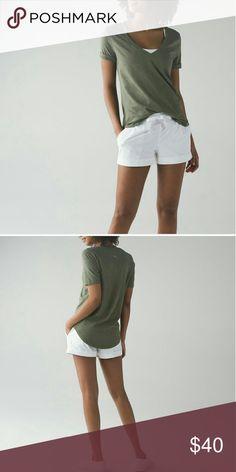 Lululemon size 2 Lululemon new with tags Love Tee III, heathered green color. Size 2. lululemon athletica Tops Tees - Short Sleeve