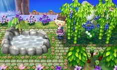 ☆ flowers and green stone alley  REF. PIC. <--